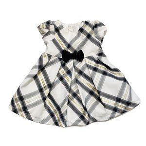 Carter's Cream Glitter Gold Plaid Fancy Dress